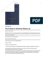 The Frontier in American History, By