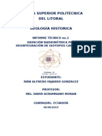 Datación radiométrica por desintegración del isotopo Carbono 14