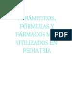 Formulas Más Utilizadas en Pediatria