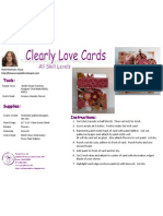 Clearly Love Cards by Vicki Flinchum