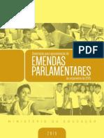 MEC - Cartilha Emendas Parlamentares 2015