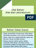 Sifat Bahan Alat Laboratorium