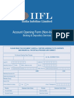 IIFL Account Opening Form Non-Individual