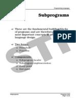 MELJUN CORTES Programming Languages Subprograms