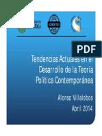 Tendencias Actuales en El Desarrollo de La Teoría Política