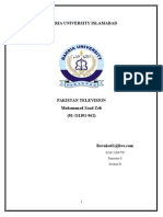 Ptv Internship Report