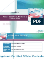 AccessSpecifiers Methods Constructors(Ppt3)