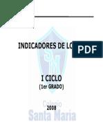 Indicadores Del Logro - 1er Grado