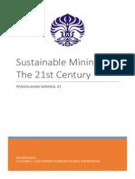 Sustainable Mining in the 21st Century Adit
