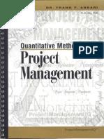 Quantitative Methods for Project Management T Anbari(1)