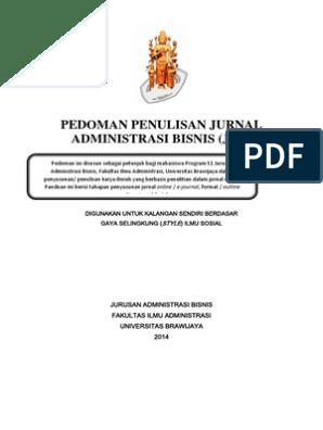 Pedoman Penulisan Jurnal Administrasi Bisnis