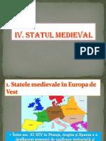 Vi. IV. Statul Medieval