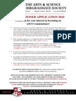 Commissioner Application 2010