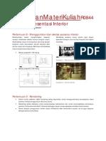 Teknik Presentasi Dalam Interior