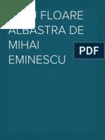 Eseu Floare Albastra de Mihai Eminescu