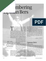 1995, Remembering Lipman Bers