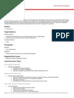 Course Outline Java Programming v4