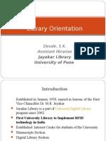 Library Orientation :- Dr. Sanjay Desale