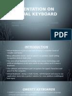 Presentation on Virtual Keyboard