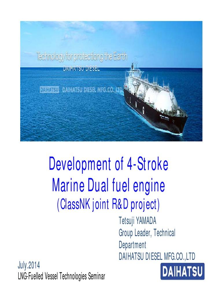 3 Development of 4-Stroke Marine Dual Fuel Engine | Diesel