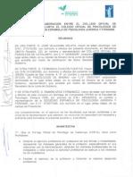 Convenio SEPJF, COP-M y COP-C Acreditación Psicólogo Forense