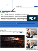 Roger Waters e the Wall, Il Film Evento Sul Tour Dei Pink Floyd. Il Trailer