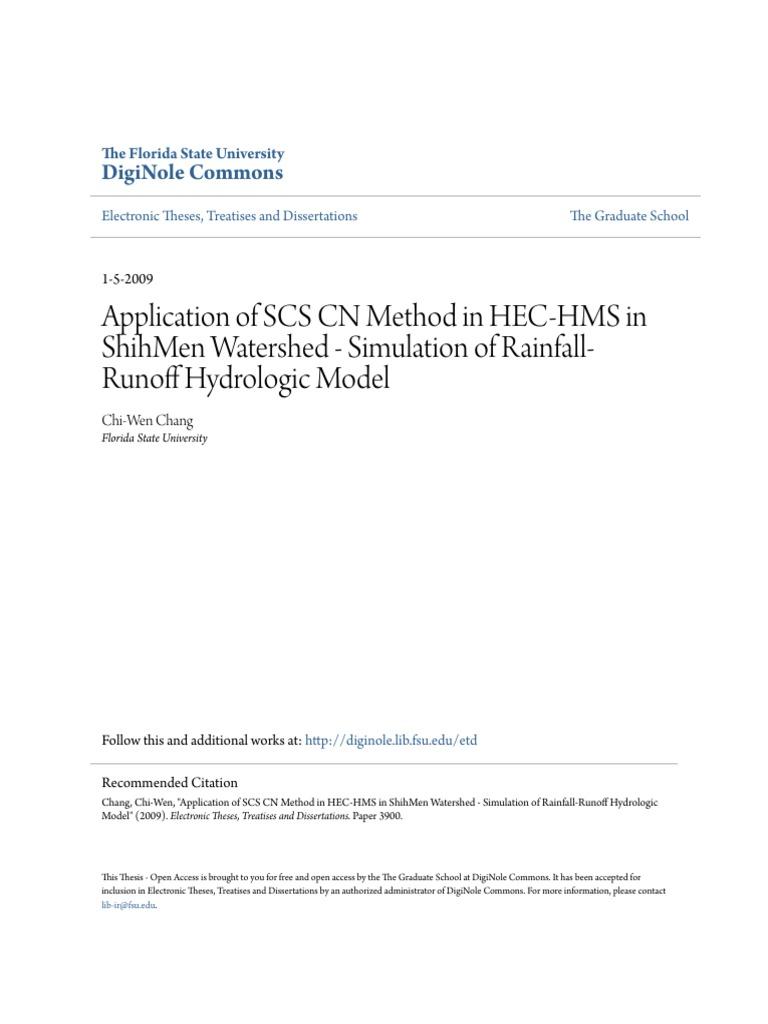 hec hms thesis