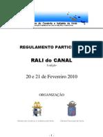 Regulamento Rali Do Canal