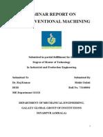 Seminar on Non conventional machining