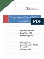 Patologia Frequente Em Cirurgia Pediátrica Em Ambulatório