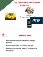 MO Lecture 2 - Prodcut and Service Design