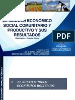 Modelo economico de Bolivia 2014