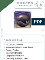 Texas Sampling Product Presentation 2013