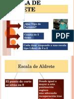 Escala de Aldrete Y BROMAGE