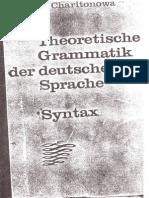 Haritonova I. J. Theoretische Grammatik der deutschen Sprache, Syntax
