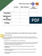 Classroom Smiley Chart