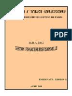 Gestion Financiere Previsionnelle