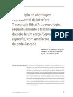 Um Exemplo de Abordagem Experimental Da Interface Traceologia Lítica Arqueozoologia