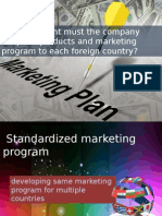 To What Extent Must the Company Adapt Its Products and Marketing Program to Each Foreign Country