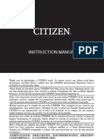 Citizen Instruction Manual 0520