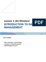Lesson 1 - Introduction to Data Management 301214
