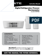 Digital Refrigerator/Freezer  Thermometer model 00986