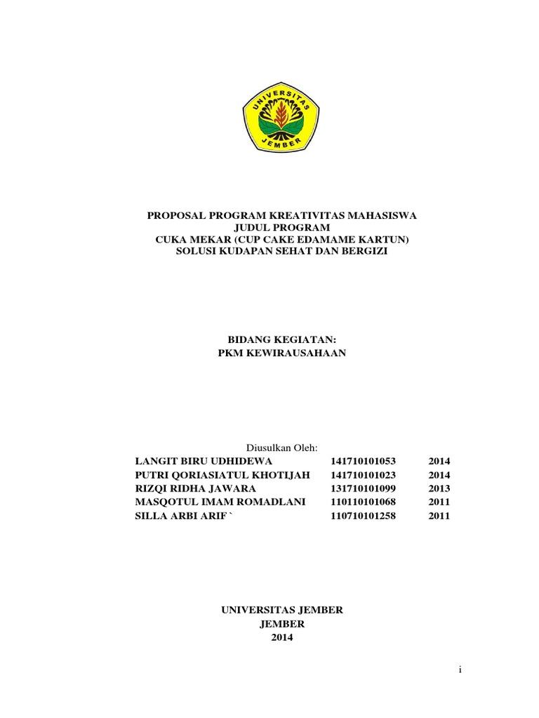Contoh Proposal Pkm K Lolos Dikti