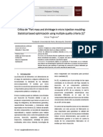 Crítica de Part Mass and Shrinkage in Micro Injection Moulding Statistical Based Optimización Using Multiple Quality Criteria
