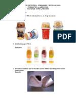 Cotización de Prototipos de Envases y Botella Para Productos Alimenticios