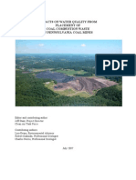 Impacts On Water Quality From Placement Of Coal Combustion Waste In Pennsylvania Coal Mines