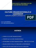 Cultura Organizationala Si Leadership