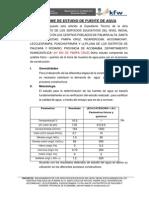 Informe de Agua Pampa Cruz