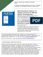 1997 Haynal on Ferenc as Psychoanalist