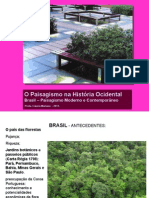 Paisagismo brasil Moderno e Contemporneo